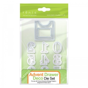 Tonic Studios Advent Drawer Deco Die set 562e