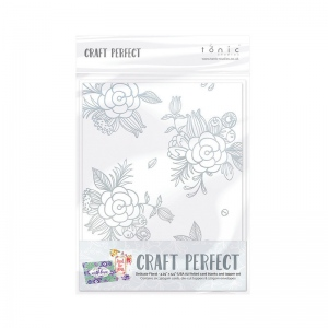 Craft Perfect Foiled Card Blanks - Delicate Floral Set (Gold) - 9400E