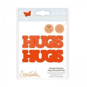 Tonic Studios Mandala Moments - Hugs Stamp & Die Set - 1543E
