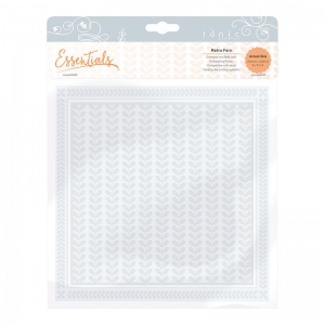 Tonic Studios 8x8 Embossing Folder - Layered Leaves - 1442E