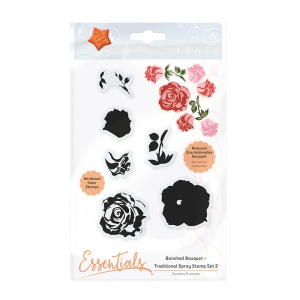 Tonic Studios Bunched Bouquet - Traditional Spray Stamp Set 2 - 1361E