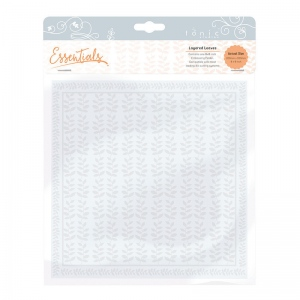 Tonic Studios 8x8 Embossing Folder - Layered Leaves - 1441E