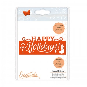 Tonic Studios Christmas Header Fold - Happy Holidays - 1407E
