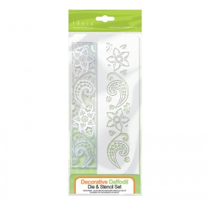Tonic Studios Double Detail Die and Stencil - Decorative Daffodil - 1137E