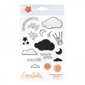 Tonic Studios Essentials - Reach For The Stars Clear Stamp Set  - 1658E