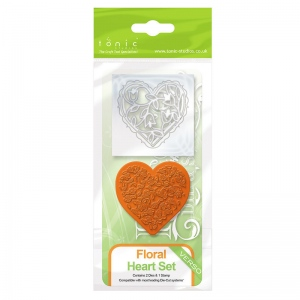 Tonic Studios Rococo Die & Stamp Set - Floral Heart - 1045e