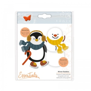 Tonic Studios Essentials - Christmas Buildables -  Percy Penguin & Stan Snowman - 1753E