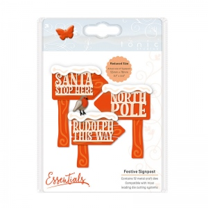 Tonic Studios Essentials - Christmas Buildables -  Festive Signpost - 1755E