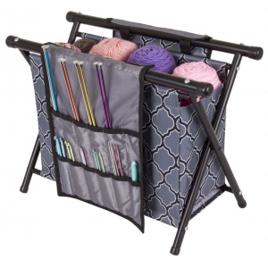 Needle Arts Caddy Gray Print   6932ag