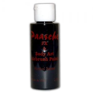 Paasche Model TI Airbrush Temporary Tattoo Paint: Black, 1 Oz.