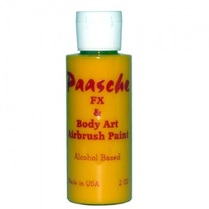 Paasche Model TI Airbrush Temporary Tattoo Paint: Yellow, 2 Oz.