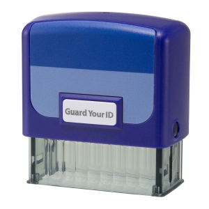 Guard Your ID Medium Stamp - Blue