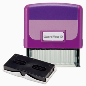 Guard Your ID Medium Stamp W/Refill PP