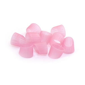 Finger Pads - Ring Style, 10 Pack, Large, Pink