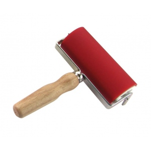 "Heritage Arts™ Professional Hard Rubber Brayer 2 x 4 3/4"" : Red/Pink, 2"", Rubber, 4 3/4"", (model AB13050), price per each"
