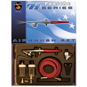 Paasche Airbrush Paasche Model H-202S Airbrush Kit with Anodized Aluminum Handle