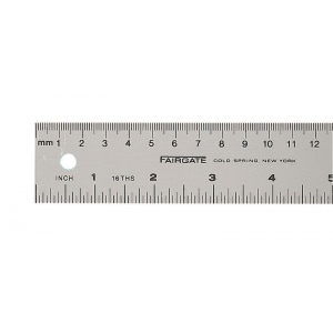 "Fairgate® Aluminum English/Metric Ruler: Metallic, Aluminum, 40"", Ruler, (model MS-100), price per each"
