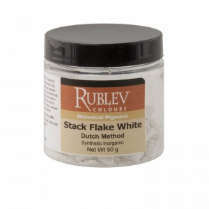 Rublev Colours Stack Flake White (Dutch Method) (50g) - Color: White