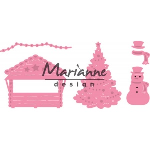 Marianne Design Collectables Village Decoration Set 5