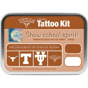 ColorBox® University of Texas Austin Collegiate Tattoo Kit: Tin, Stamp