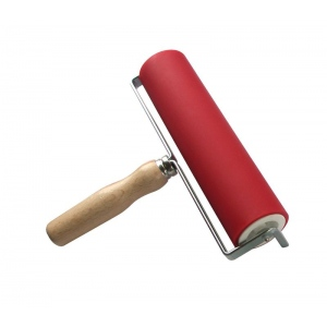"Heritage Arts™ Professional Hard Rubber Brayer 2 x 8"" : Red/Pink, 2"", Rubber, 8"", (model AB13070), price per each"