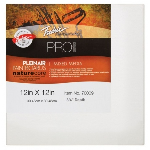 "Fredrix® PRO Paint Boards™ 12"" x 12"" Mixed Media: White/Ivory, Sheet, Cotton, 12"" x 12"", Paint Board, (model T70009), price per each"