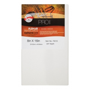 "Fredrix® PRO Paint Boards™ 8"" x 16"" Mixed Media: White/Ivory, Sheet, Cotton, 8"" x 16"", Paint Board, (model T70010), price per each"