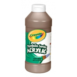 Crayola® Portfolio Series Acrylic Paint Burnt Umber: Brown, Bottle, 16 oz, Acrylic