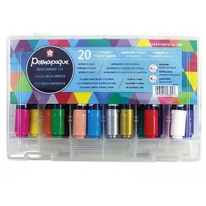 Permapaque Permapaque Dual-Point Paint Marker Gift Set 20 Piece