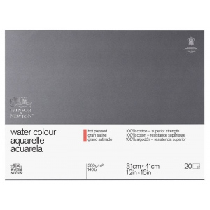 Winsor & Newton™ Watercolor 140lb. Hot Press Paper Block