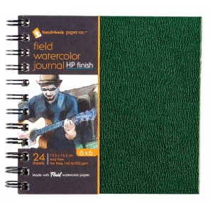Global Art Materials™ Field Series Fluid Watercolor Hot Press 140 lb. Paper Book