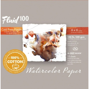 Global Art Materials™ Fluid 100 Cold Press 140 lb. Watercolor Paper