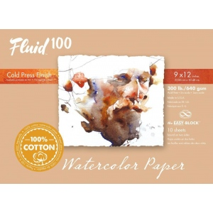 Global Art Materials™ Fluid 100 Cold Press 300 lb. Watercolor Paper
