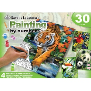 Royal & Langnickel Art Adv Paint By Number -  Jungle Box Set