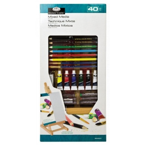Royal & Langnickel® Essentials™ Small H Easel Mixed Media Set: 40 Pieces, (model REA5320), price per set