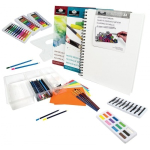 Royal & Langnickel® Studio Complete™ Studio Complete Mixed Media Art Set: 136 Pieces, (model RSET-SC120), price per set