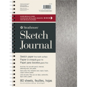 "Strathmore® Metallic Sketch Journal 9"" x 12"" : Metallic, Journal, 500, 9"" x 12"", Sketching, 50 lb, (model ST25-539), price per each"