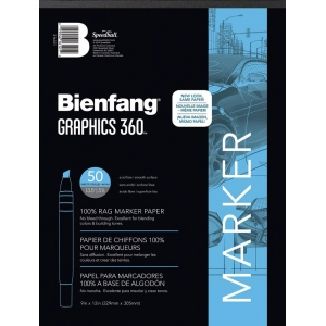 "Bienfang® Graphics 360 9"" x 12"" Layout Paper Pad: White/Ivory, Pad, 50 Sheets, 9"" x 12"""