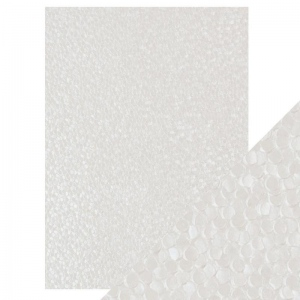 Craft Perfect Freshwater Pearls - Hand Crafted Embossed Cotton Paper- A4 - 150 gms/55 lbs -  9809e
