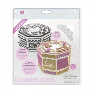 Tonic Studios Sewing Forever Octagon Kaleidoscope Box Die Set - Dimensions - 1903e