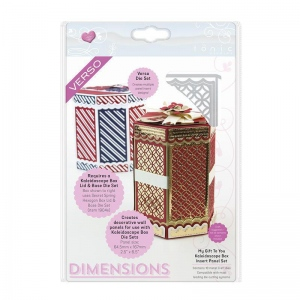 Tonic Studios My Gift To You Kaleidoscope Box Insert Die Set - Dimensions - 1905e