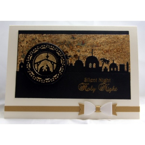 Silent Night Gilding Flake Card