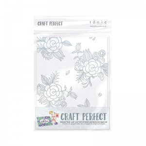 Craft Perfect Craft Perfect Foiled Card Blanks - Delicate Floral Set (Gold) - 9400E