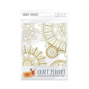 Craft Perfect Craft Perfect Foiled Card Blanks - Intricate Henna Set (Gold) - 9401E