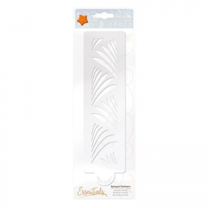 Tonic Studios Essential Stencil - Splayed Feathers - 1480E