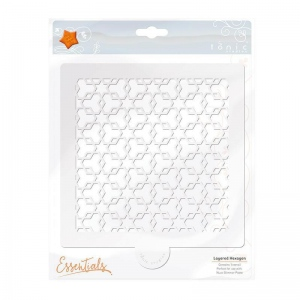 Tonic Studios Essential Stencil - Layered Hexagon 6x6 - 1477E