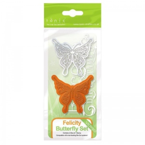 Tonic Studios Rococo Die & Stamp Set - Butterfly Felicity - 1040E