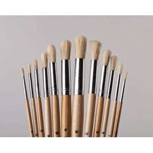 Belle Arte Uno White Bristle: Round Brush