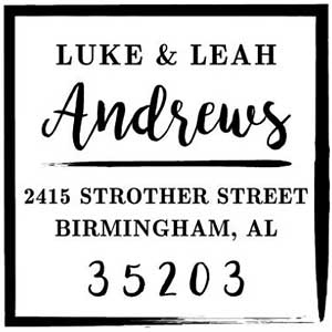 Mason Row Andrews Square Address Stamp