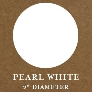 "Mason Row Embossing Seals: Pearl White, 2"" Round, Pack of 32 Stickers"